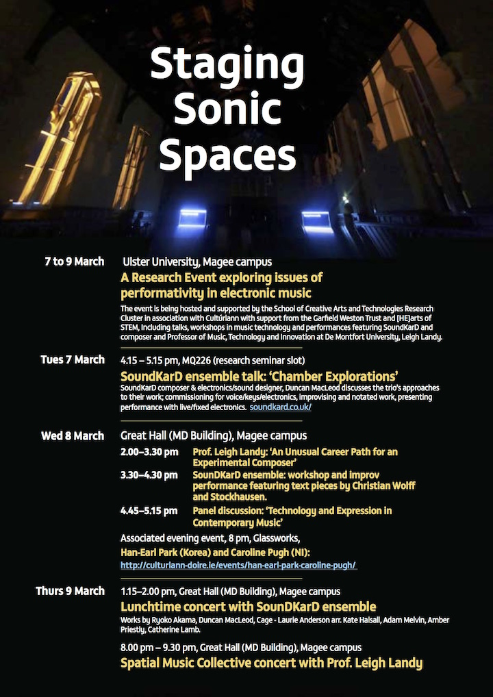 Staging Sonic Spaces